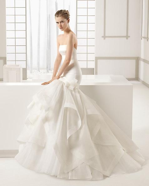 Satin-Hochzeitskleid - Meerjungfrau - ROSA CLARA