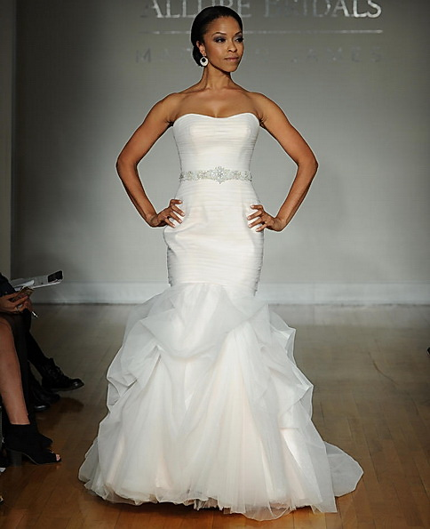 Satin-Hochzeits-Kleid - Fischschwanz - Allure
