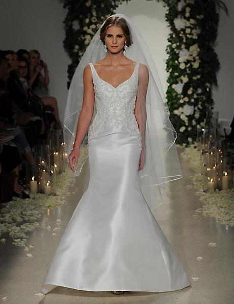 Satin-Hochzeitskleid - Meerjungfrau - Anne Barge