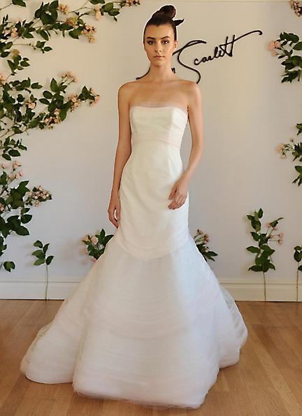 Satin-Hochzeitskleid - Meerjungfrau - Austin Scarlett