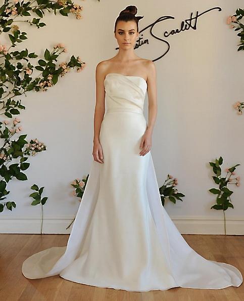 Satin-Hochzeits-Kleid - Fischschwanz - Austin Scarlett