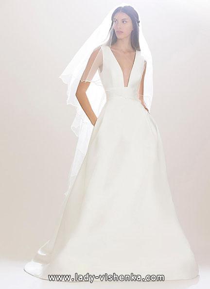 Hochzeitskleid aus Satin 2016 - Carolina Herrera