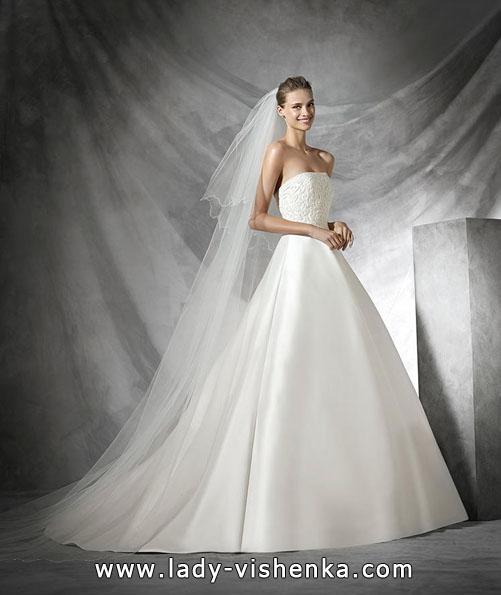 Hochzeitskleid aus Satin Frühling 2016 - Designer Pronovias