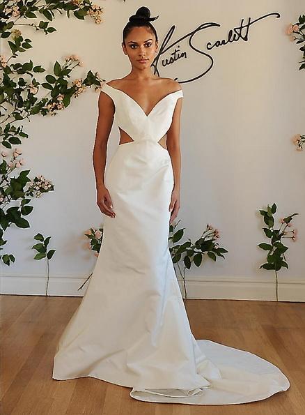 Hochzeitskleid aus Satin mit schleppe Austin Scarlet 2016