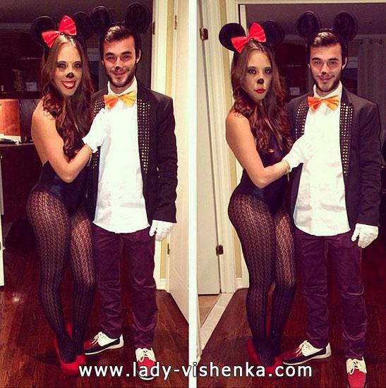 Mickey und Minnie-Mouse - Kostüm für Paare Halloween