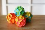 Weihnachten Spielzeug aus Papier — Kugel