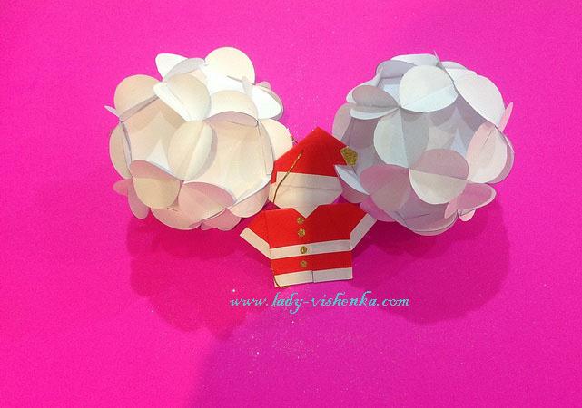 weihnachtskugel aus Papier