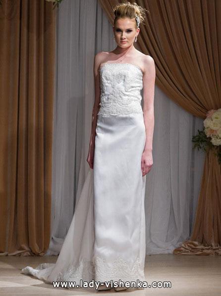 Hochzeitskleid gerade Silhouette 2016 - Jean-Ralph Thurin