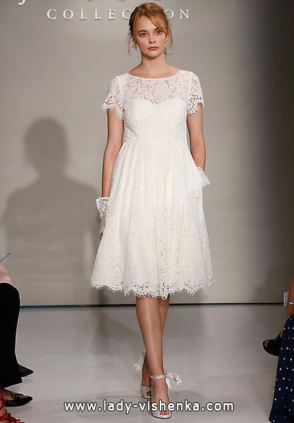kurze Spitze Hochzeitskleid 2016 - Jenny Yoo