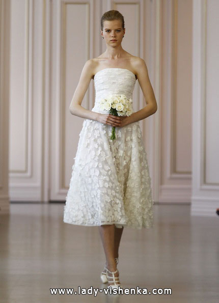 kurze Spitze Hochzeitskleid 2016 - Oscar de la Renta