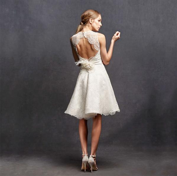 Spin kurze Spitze Hochzeitskleid 2016 - Isabelle Armstrong