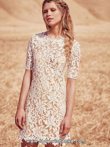 kurze Spitze Hochzeitskleid 2016 - Free People
