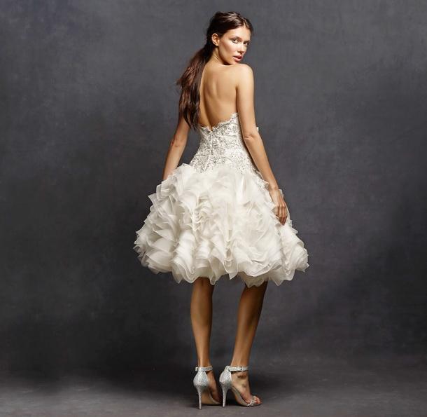 Kurze Hochzeitskleid mit weitem Rock 2016 - Isabelle Armstrong