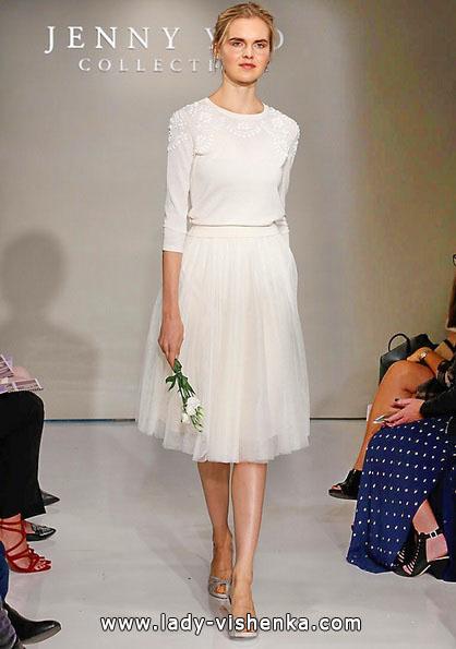 Kurze brautkleider mit ärmeln 2016 - Jenny Yoo