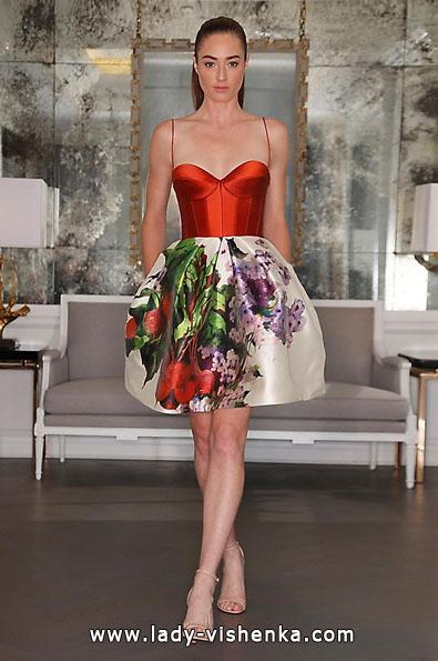 Rotes kurzes brautkleid 2016 - Romona Keveza