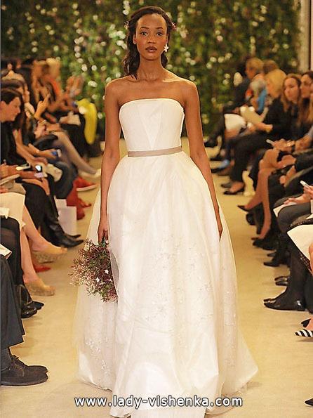 Einfache Hochzeitskleid Foto-2016 - Carolina Herrera