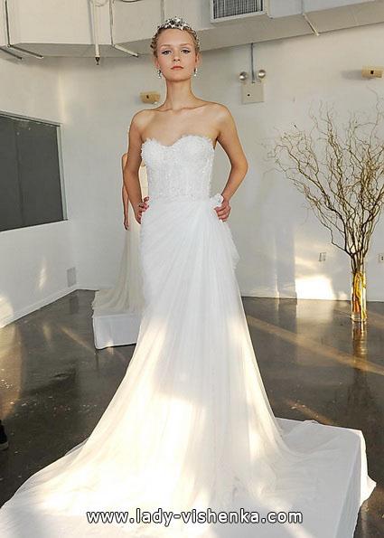 Einfache Hochzeitskleid 2016 - Marchesa