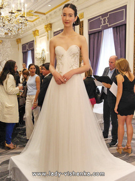 Einfache Hochzeits-Kleid - Marchesa