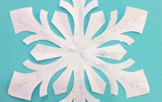 Schneeflocken, handgefertigt – Schema