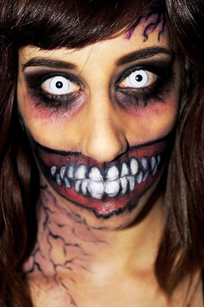 Scary make-up für Halloween