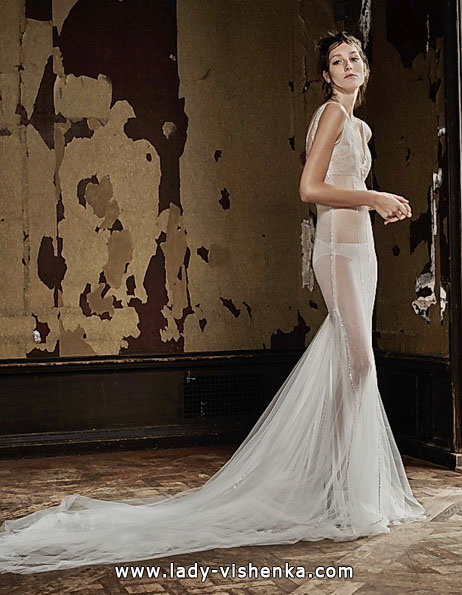 Transparentes brautkleid mit schleppe - Vera Wang