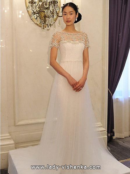 Brautkleider mit geschlossenen Schultern 2016 - Marchesa