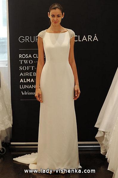 Brautkleider mit geschlossenen 2016 mit den Schultern - Rosa Clará