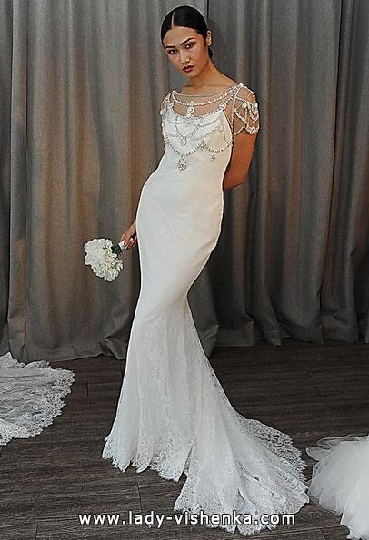 Meerjungfrau Brautkleid mit schleppe 38