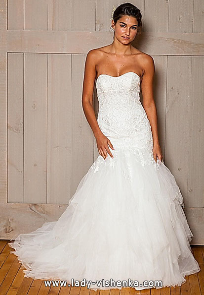Meerjungfrau Brautkleid mit schleppe 43