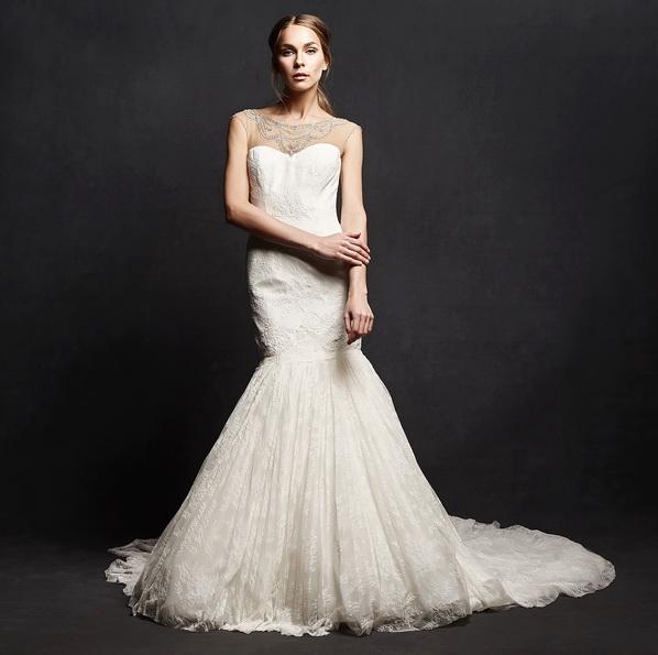 Meerjungfrau Brautkleid mit schleppe 29