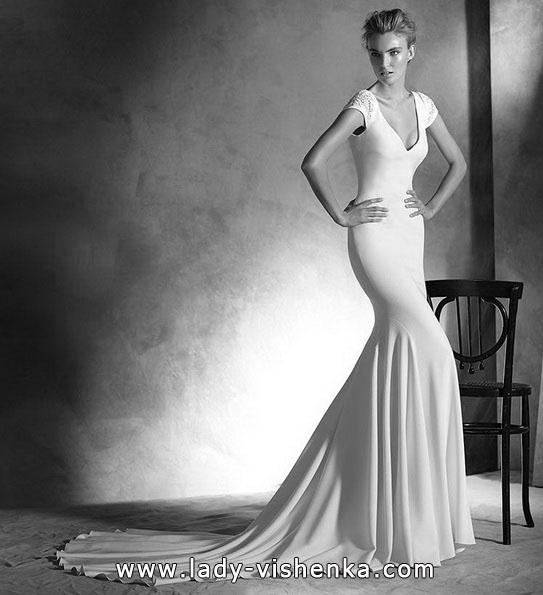 Meerjungfrau Brautkleid mit schleppe 46