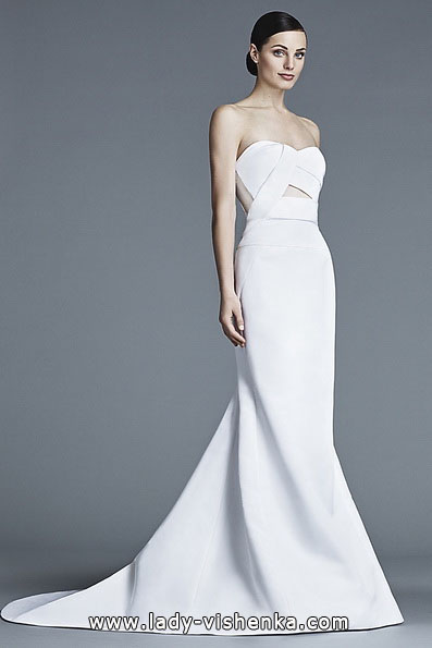 Meerjungfrau Brautkleid mit schleppe 48