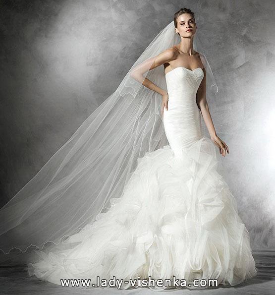 Meerjungfrau Brautkleid mit schleppe 55