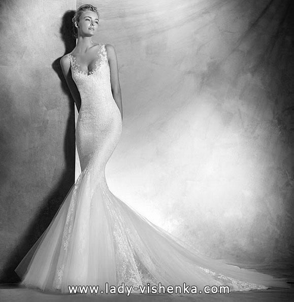 Meerjungfrau Brautkleid mit schleppe 64