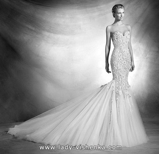 Meerjungfrau Brautkleid mit schleppe 66