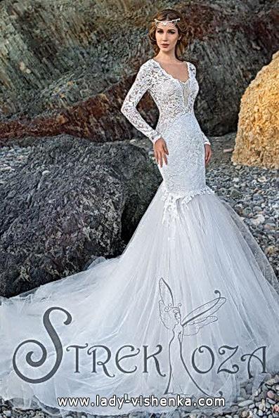 Meerjungfrau Brautkleid mit schleppe 75