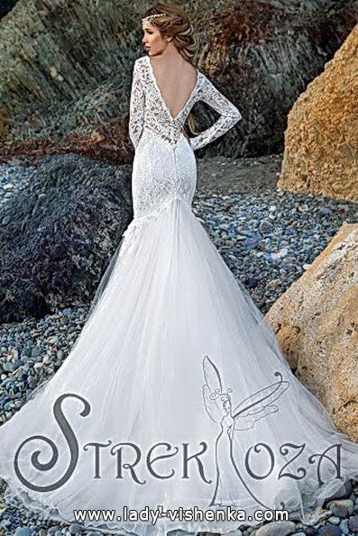 Meerjungfrau Brautkleid mit schleppe 76