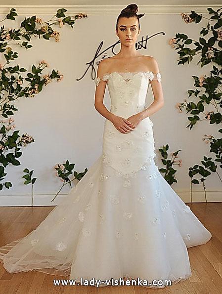 Meerjungfrau Brautkleid mit schleppe 34