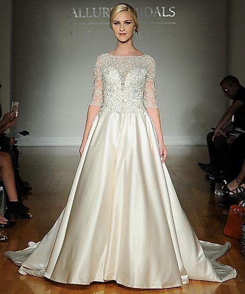 Hochzeits-Kleid mit Satin-Rock Allure 2016