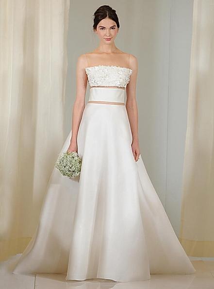 Hochzeits-Kleid mit Satin-Rock von Angel Sanchez 2016