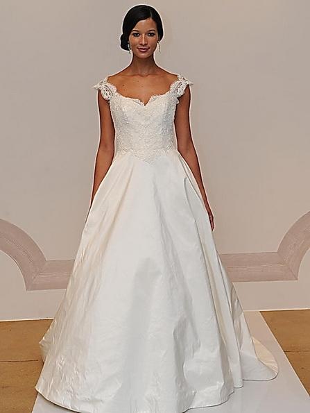 Hochzeits-Kleid mit Satinrock Judd Waddell 2016