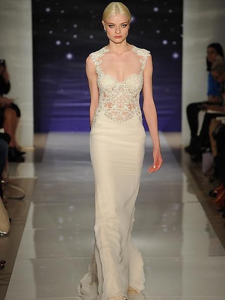 Hochzeits-Kleid mit Satin-Rock von Reem Acra 2016