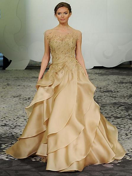 Hochzeits-Kleid mit Satinrock Rivini 2016