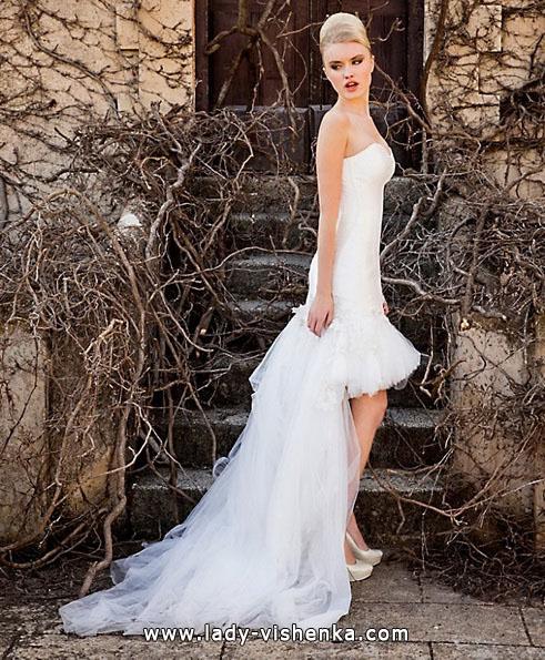 Hochzeitskleid kurz mit schleppe - Jordi Dalmau