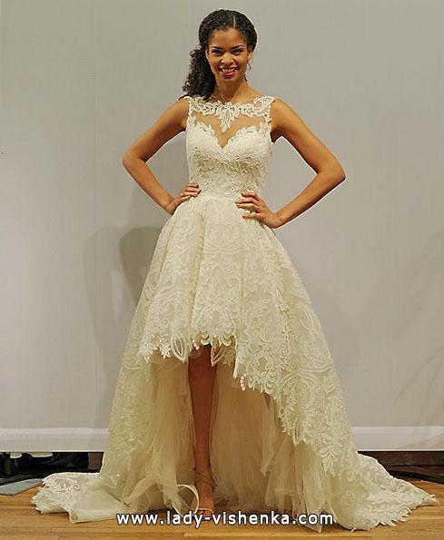 Hochzeitskleid vorne kurz hinten schleppe 2016 - Paloma Blanca