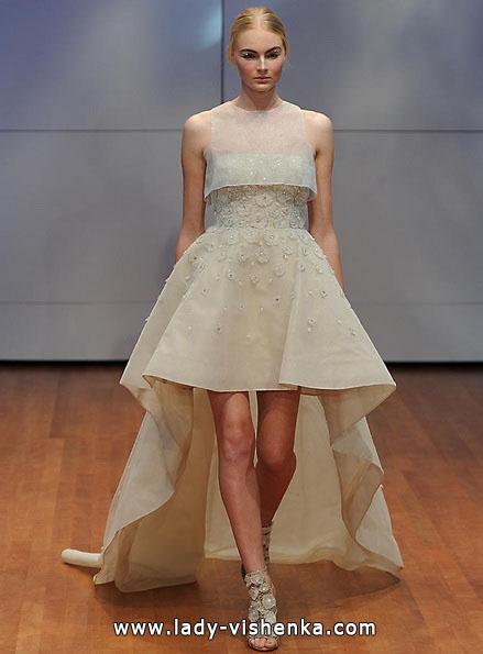 kurze Brautkleid vorne 2016 - Rita Vinieris