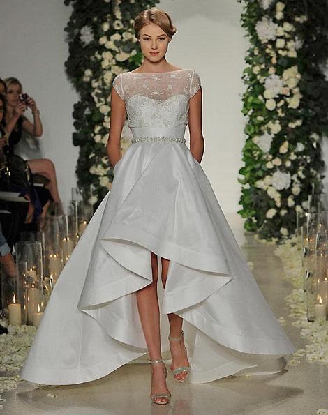 Hochzeitskleid vorne kurz Fotos Anne Barge