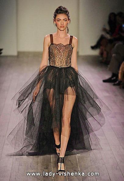 das Schwarze brautkleid kurz vorne 2016 - Hayley Paige