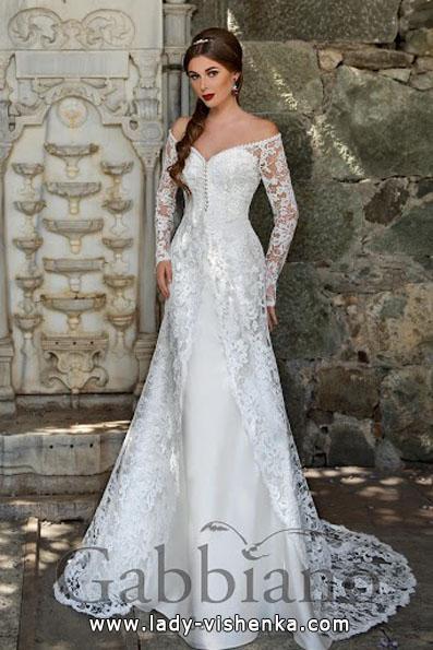 Brautkleider mit Spitzen ärmeln - Gabbiano