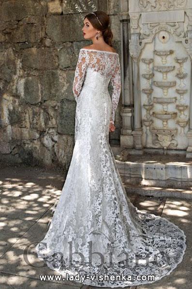 Brautkleider mit Spitzen ärmeln 2016 - Gabbiano
